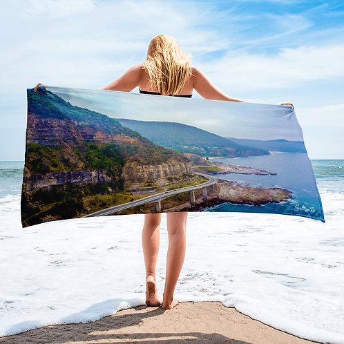 Sea Cliff Bridge beach towel