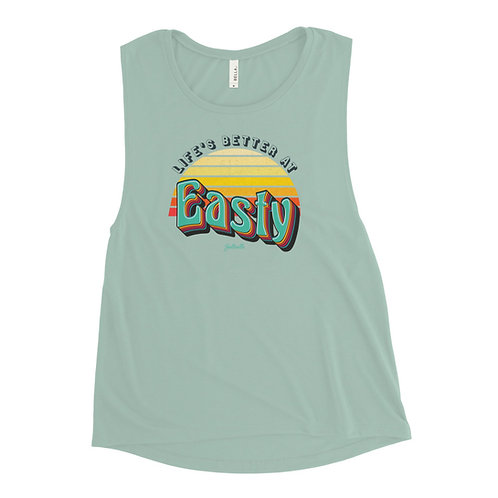 Life's Better at Easty - Saltcalls - Women's Muscle Tank