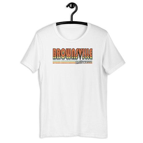 Brownsville retro stripe - Short-Sleeve Unisex T-Shirt