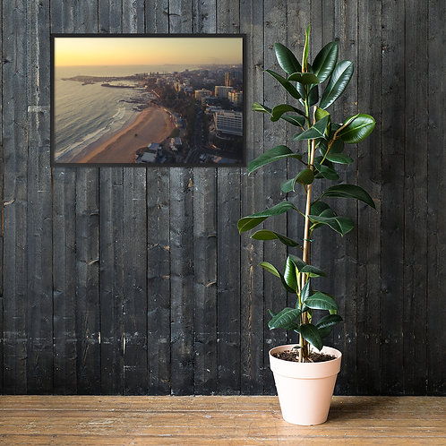 Print (framed) - North Wollongong Sunrise (Aerial)