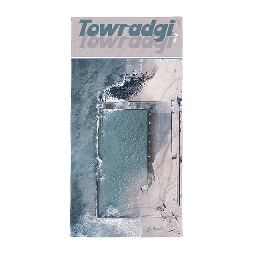 Towradgi Pool aerial beach towel (retro style)