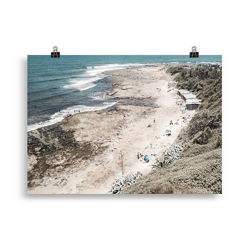 Print (unframed) - Sandon Point and its Boat Sheds