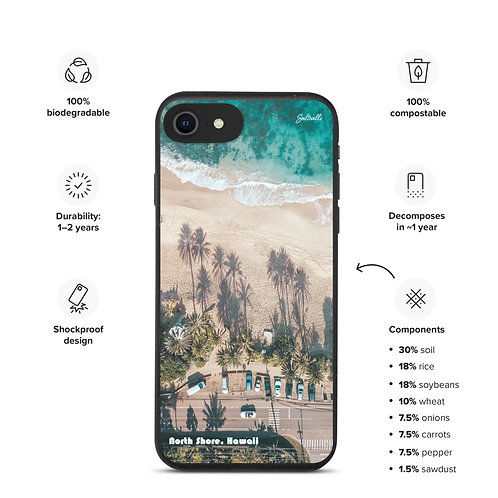 Biodegradable iPhone case - North Shore Hawaii - Aerial