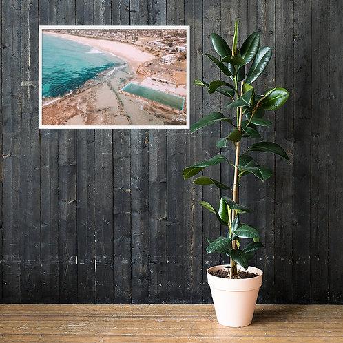 Print (framed) - Woonona Beach / Pool (Aerial)