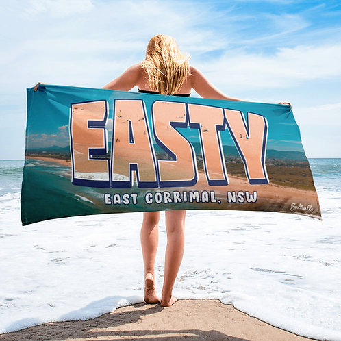 "East Corrimal ""EASTY"" summer aerial image beach towel"