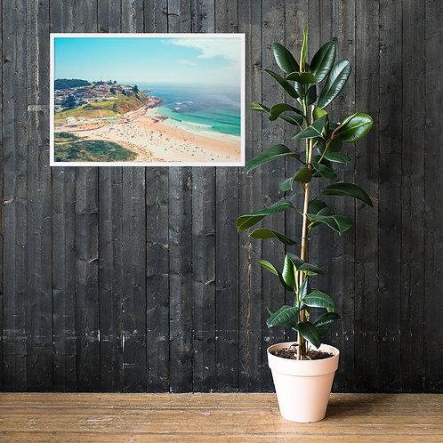 Print (framed) - Port Kembla Beach / Pool (Aerial)
