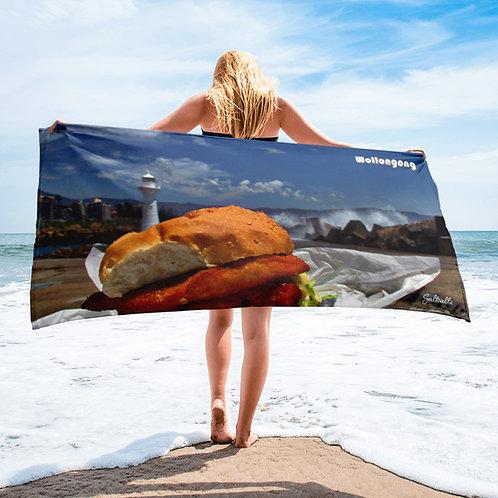 Wollongong burger beach towel