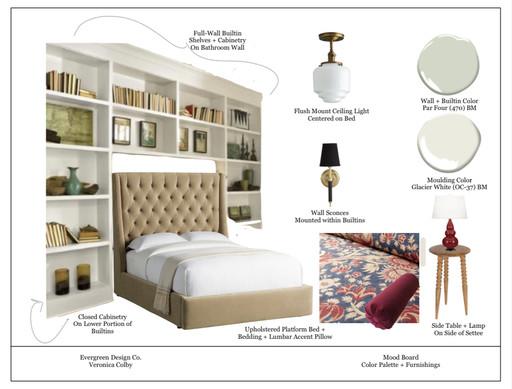 Fresh Art Nouveau Master Bedroom
