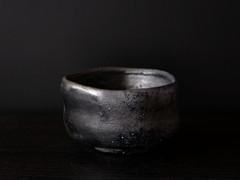 黒備前茶盌   Black Bizen