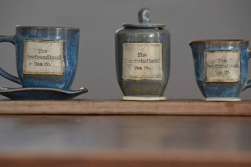 Denim Blue Newfoundland Tea Company Mug and Saucer Set