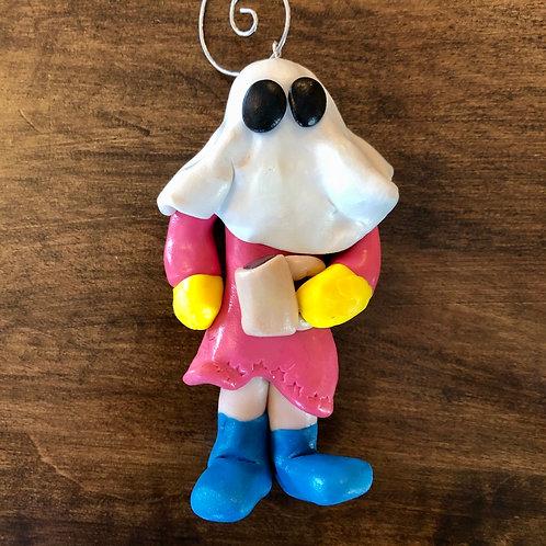 Handmade Lady Mummer Christmas Ornament
