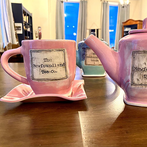 Pink Newfoundland Tea Company Mug and Saucer Set