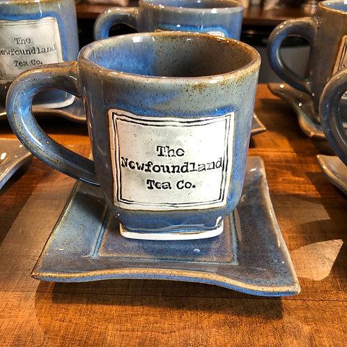 Newfoundland Tea Company Mug and Saucer Set - Denim Blue