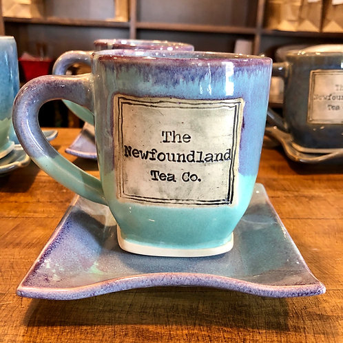 Blue/Lilac Newfoundland Tea Company Mug and Saucer Set