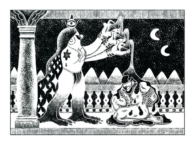 Goddess and the Bound Man