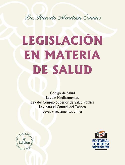 Legislación en materia de Salud
