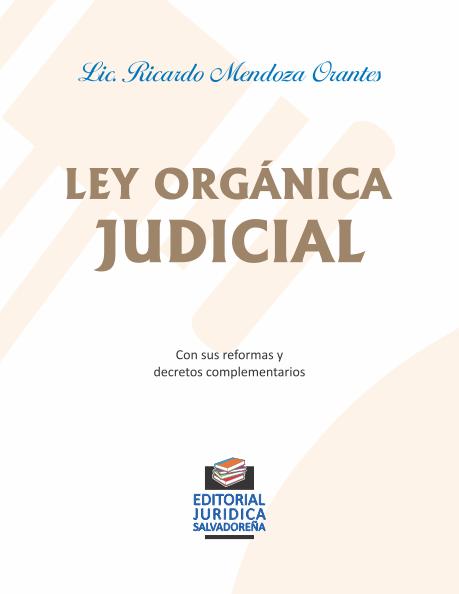 Ley Orgánica Judicial