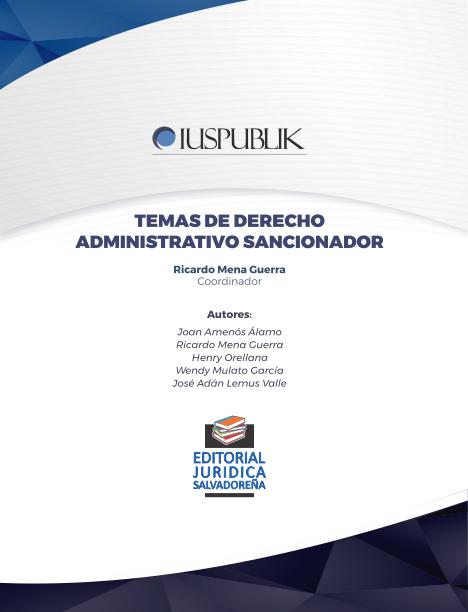 Temas de Derecho Administrativo Sancionador