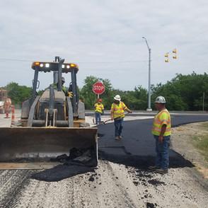 Arnold Flores crew...asphalt paving on S