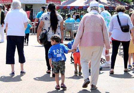 grand friends walking