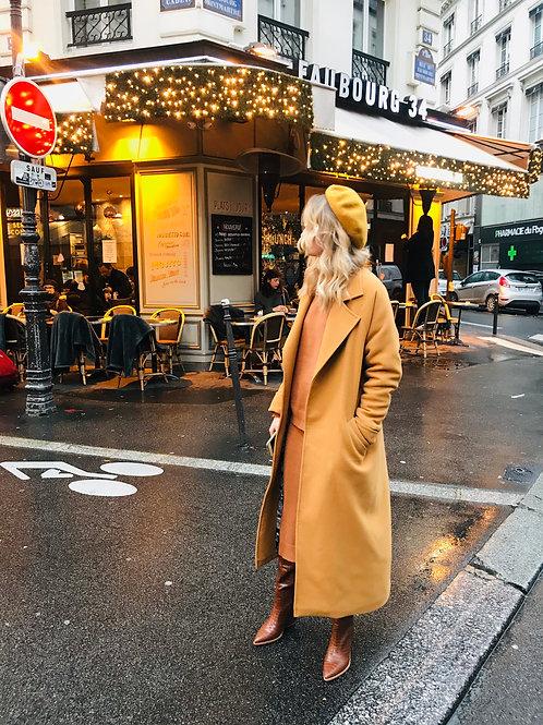 Пальто-халат с воротником стойка. Шерсть. Утепленное.