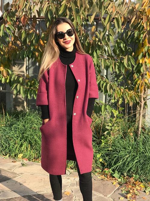 Пальто. Шерсть.  Вязаное. Возможно в других цветах