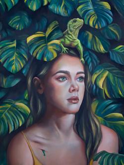 Green Blood - oil - 18 x 24