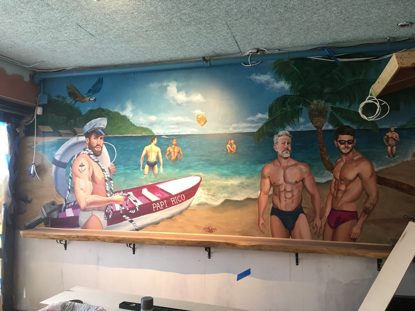 PAPI RICO Mural Painting