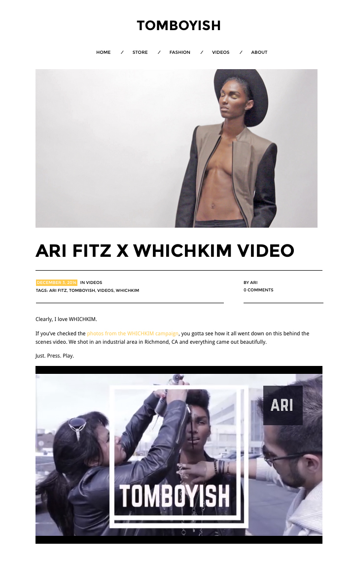 TOMBOYISH by Ari Fitz from MTV