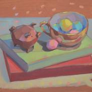 Little piggie still-life