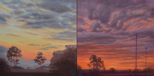 Diptych - I woke up and saw red in my mind