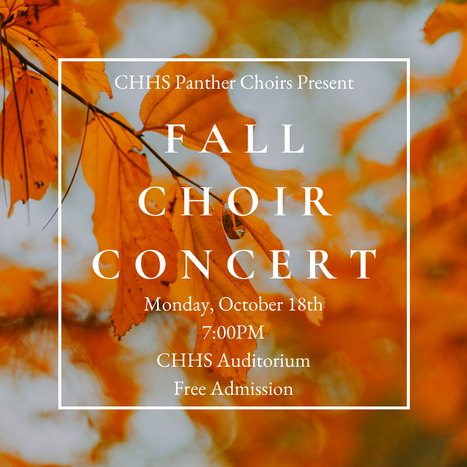Panther Choir Newsletter 10/15