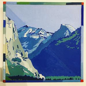 Half Dome, Yosemite Oil on panel 30cm x 30cm