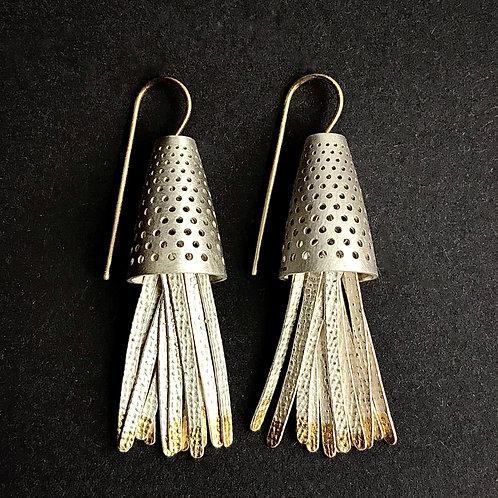 bluebell earrings with keumboo tassels