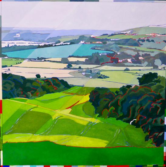 Whiteways Poppyfield Oil on canvas  92cm x 92cm