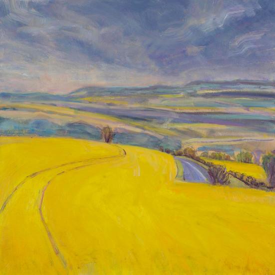 Yellow Fields Rainstorm