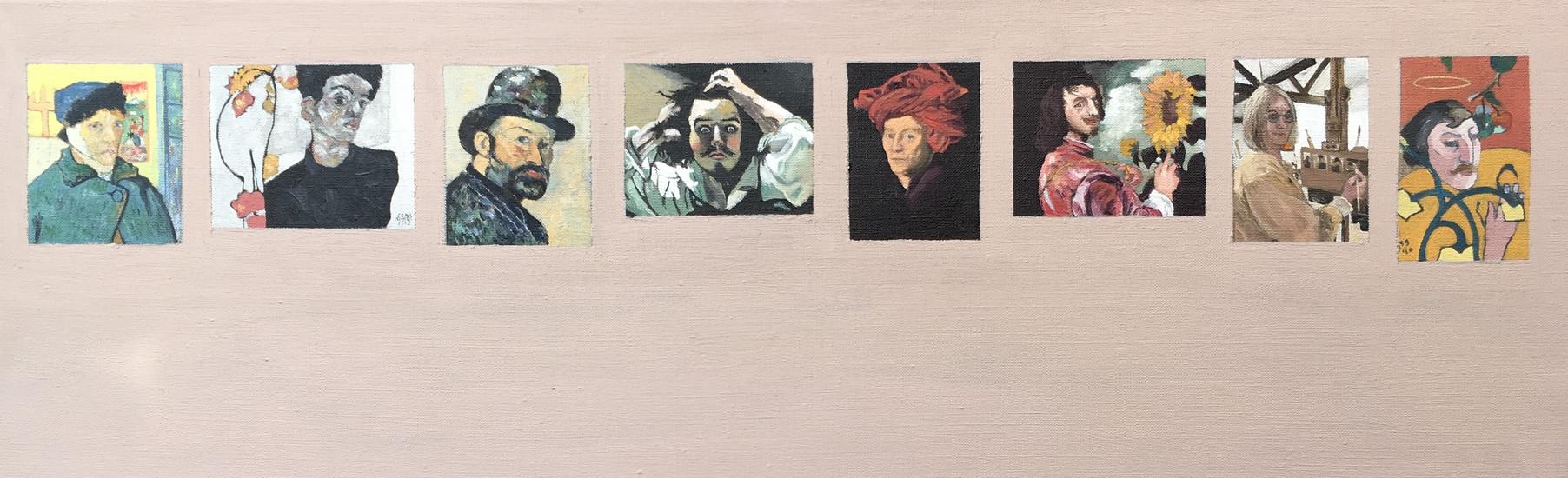 The Self-Portrait Exhibition Oil on canvas