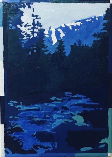 Yosemite Pines Oil on panel 28cm x 30cm