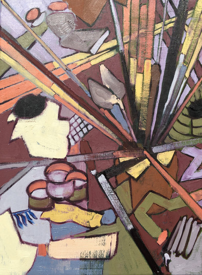 Palette Knives, Paints & Brushes Oil on canvas