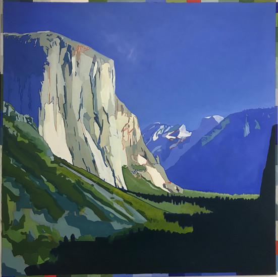 El Capitan, Yosemite Oil on canvas  112cm x 112cm