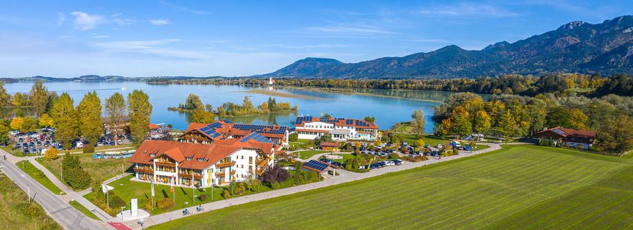 Architekturfoto-Hotelanlage am Forggensee im Ostallgäu