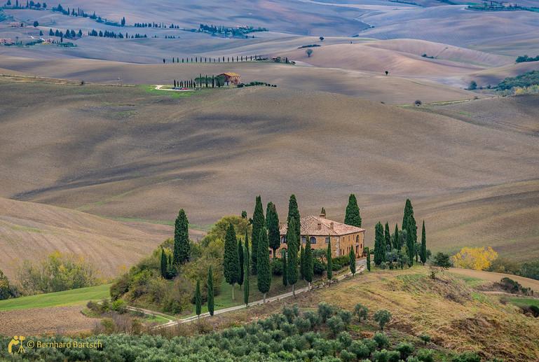 Architekturfoto-Toscana San Quirico Haus Belvedere