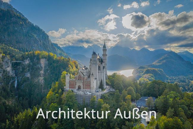 Architekturfotos Außen - Schloss Neuschwanstein am Abend