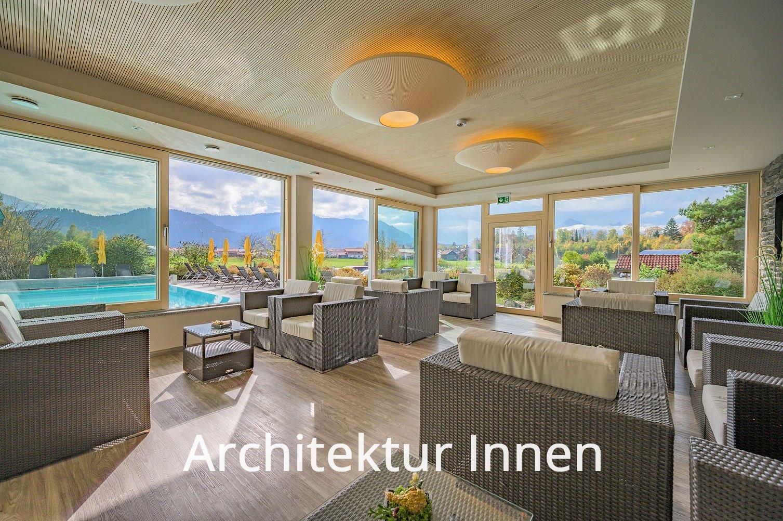Architekturfotos Innen - Hotel Raum mit Gegenlicht