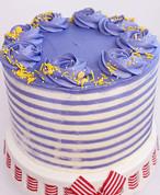 Striped Two-Tone Cake