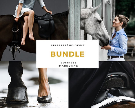 BUNDLE Selbstständigkeit, Marketing & Business für Pferdefotografen