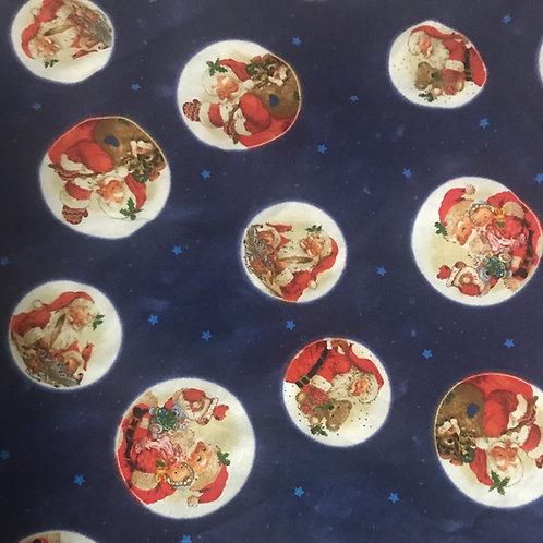 Santa Circles on Blue