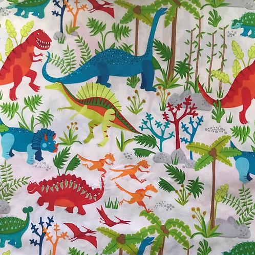 Dinosaurs on White