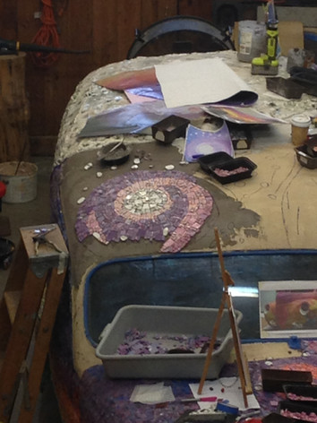 """Travail en cours - Galaxy car - """"Voyager"""" project - Carmel (NY)"""
