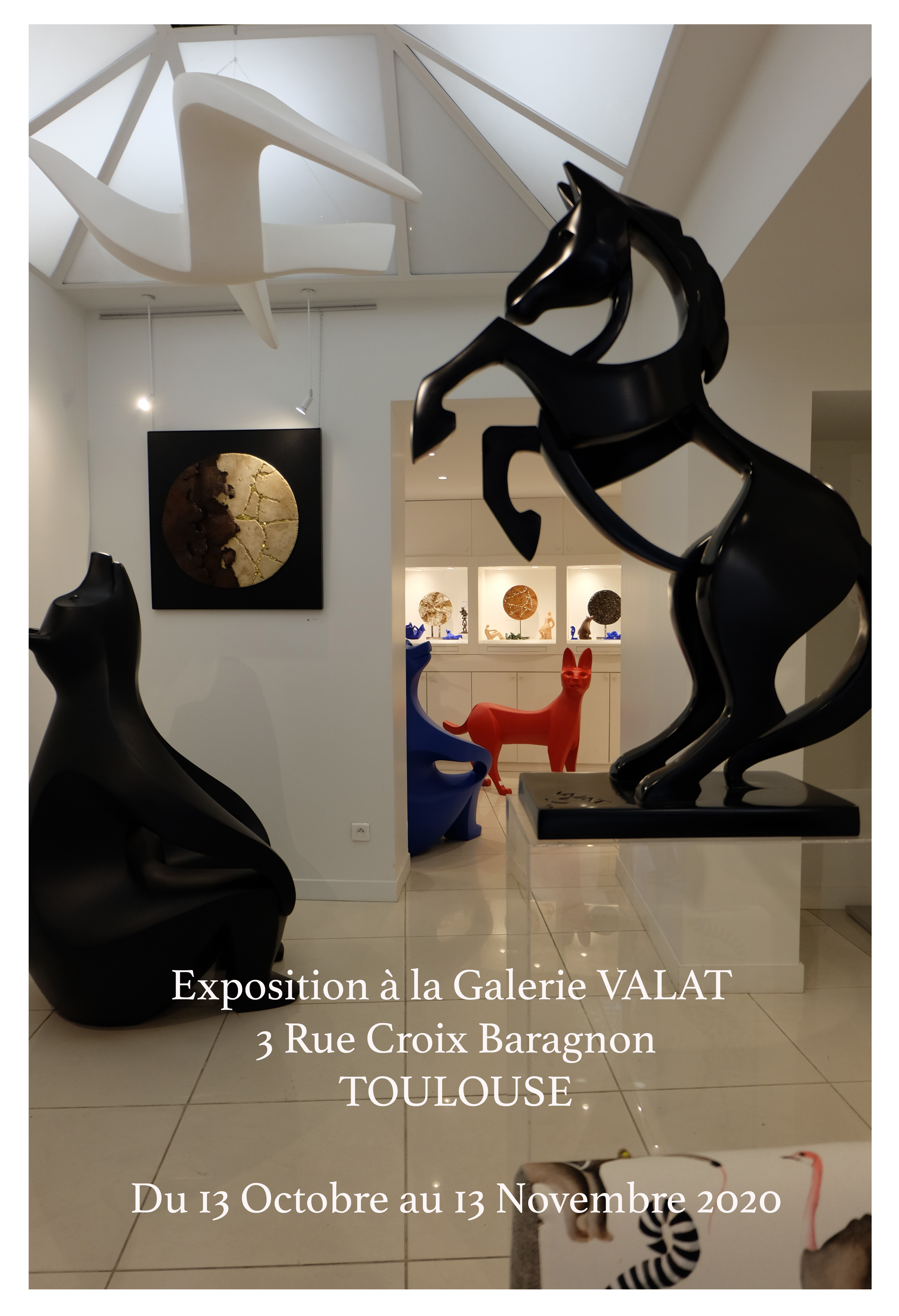 Affiche Exposition Galerie Valat